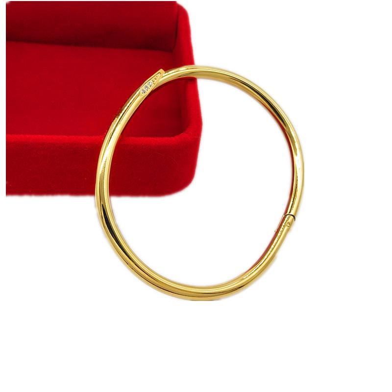 Männer und Frauen Diamanten Golden Silber Titan Stahl Nagel Armreif Armband Designer Stil Klassische Mode Luxus Schmuck Fade-Proof Hypoallergen