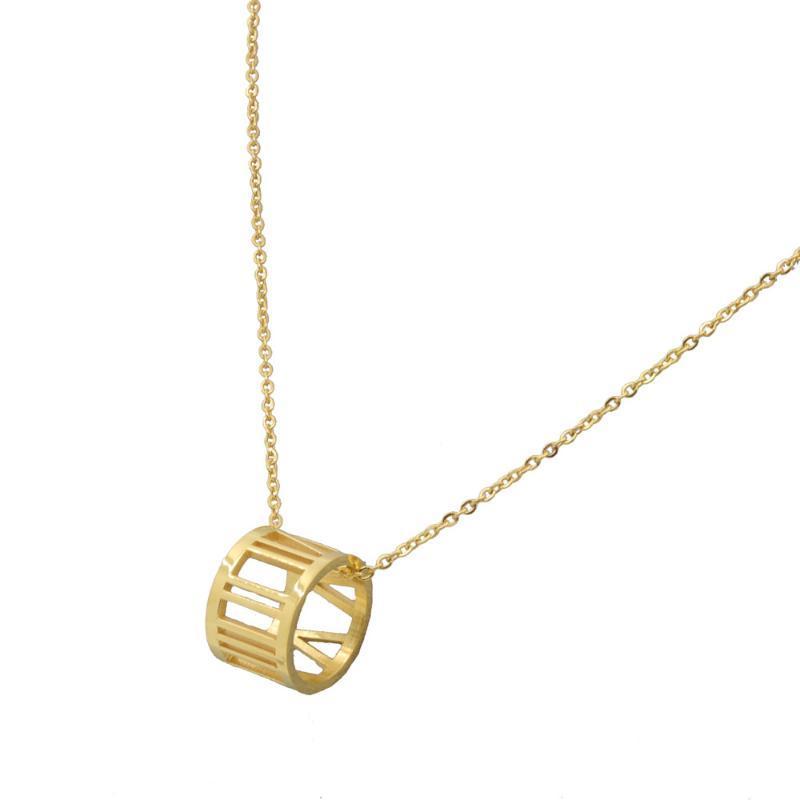 Кулон Ожерелья Женщины Ожерелье Золотой Цвет Из Нержавеющей Стали Римская Цвета Роскошные Ювелирные Изделия Женщина Высокое качество