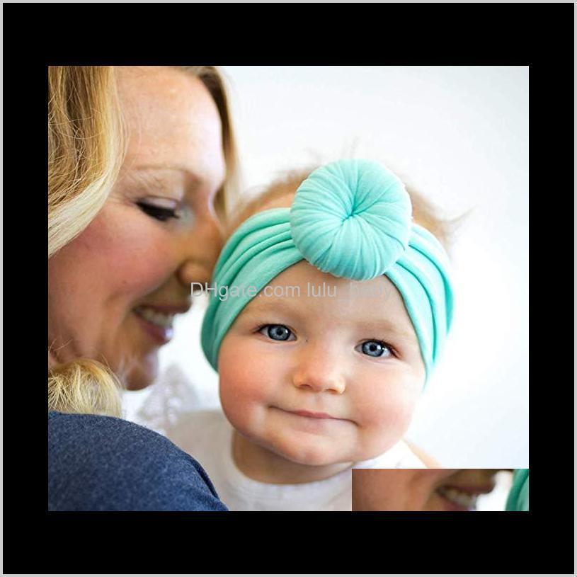 Boutique Baby Fandbands Knot Ball Ball Hairband Circle Notto morbido in nylon in nylon in nylon in nylon per nati bambini bambini ragazze bambini accessori per capelli cioè SD5GZ