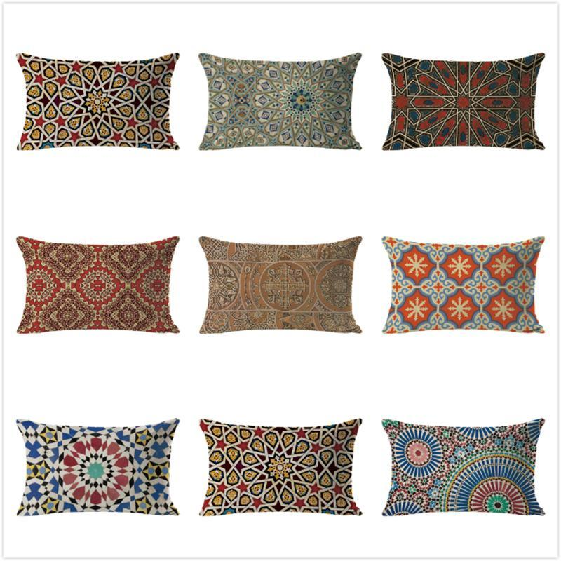 Cushion/Decorative Pillow Muslim Cushion Cover Geometric Case Kids Room Decora Throw For Sofa Bedroom Pillowcase Housse De Coussin