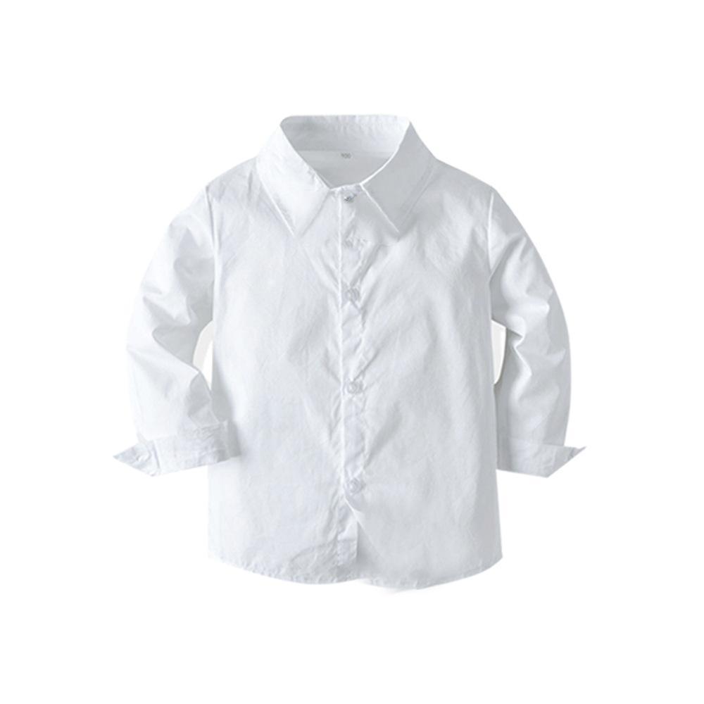 2021 New Fashion Baby Suit Childrens Suits 2Pcs/Set Kids Baby Boys Business Suit Solid Shirt+ PantsSet For Boys Party 1-6 Age