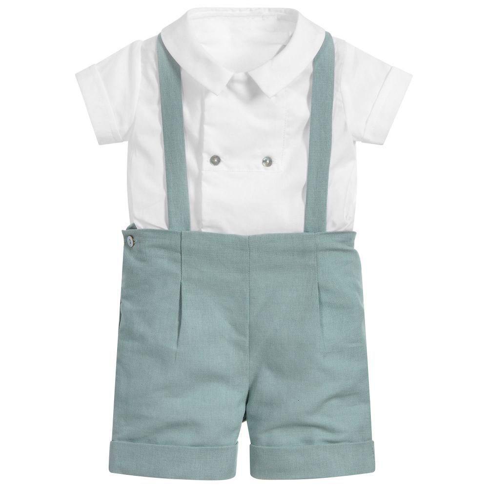 Детский костюм Baby Boy Boutique Одежда для детей младенческий день рождения крещение одежда детские испанские наряды белая рубашка брюки новорожденного костюма