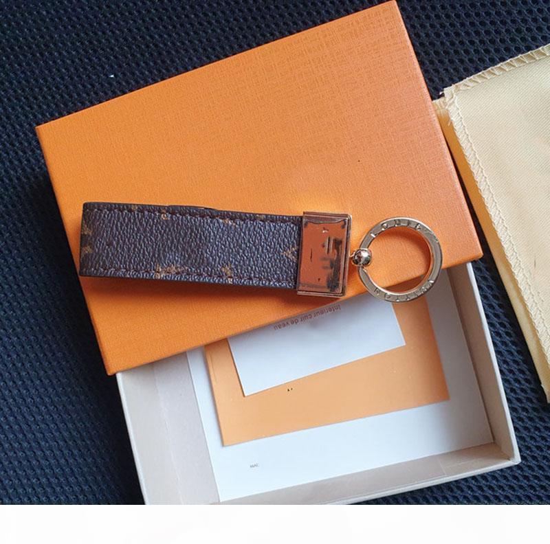 2019 neue Art Lether Schlüsselanhänger mit Legierung Schnalle Nachahmung Leder Schlüsselanhänger Casual Letter Oldlace Auto Schlüsselanhänger mit Box