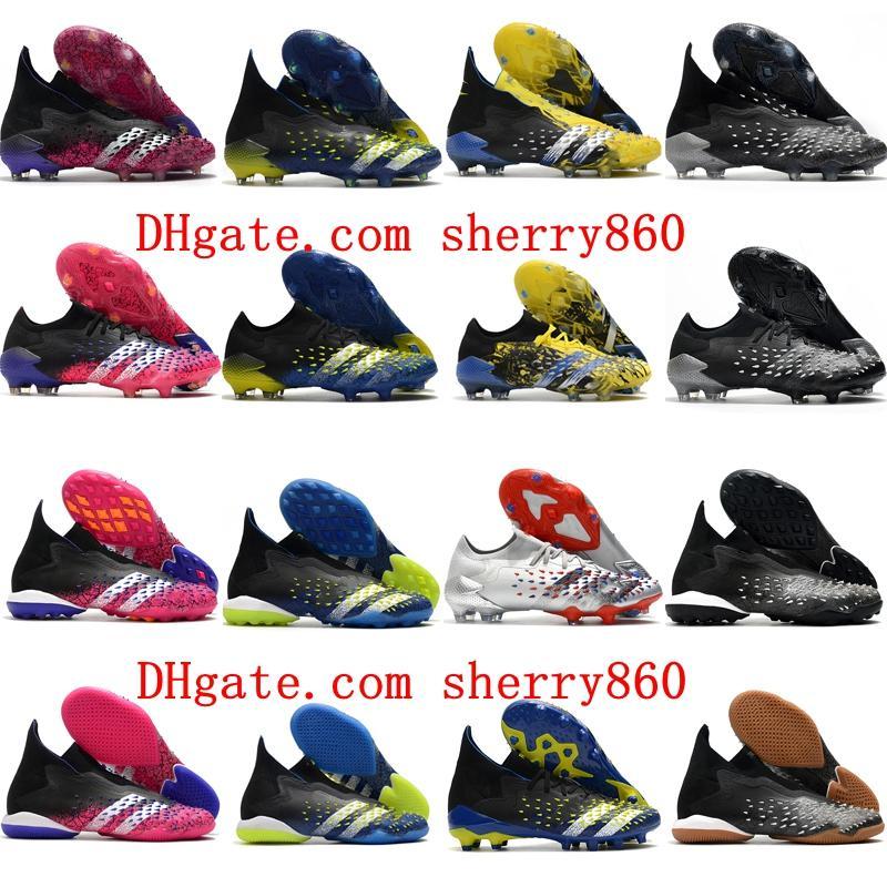 2021 Качественные мужские футбольные ботинки хищник Freak + FG AG TF IC Clears Футбольные ботинки TURF Крытый Scarpe Da Calcio