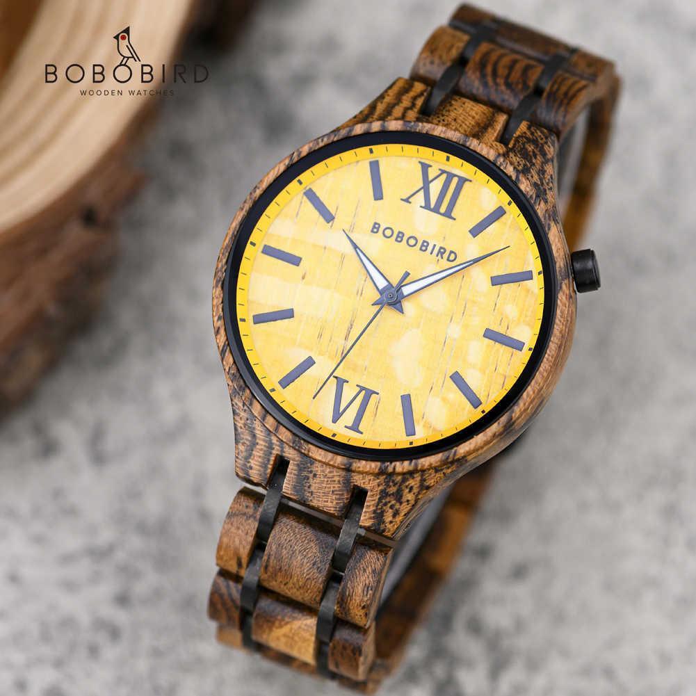 Relogio Masculino Bobo Vogel Holz Paar Uhren Luxus Marke Armbanduhr Männliche Uhr in Holzkiste Valentinstag Geschenk 210603