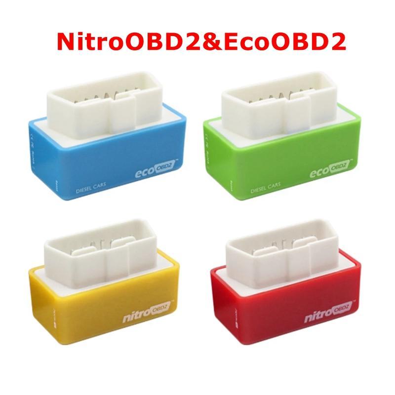 4 Renkler NITROOBD2 ECOOBD2 Teşhis Aracı 15% Yakıt Tasarrufu Daha Fazla Güç ECU Chip Tuning Kutusu için D I E S El Benzin Benzin Gazolin Araba Fiş Sürücüsü