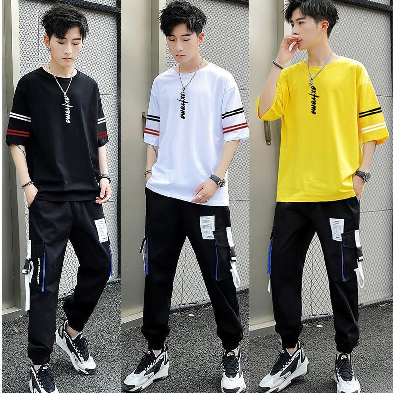 Spor Takım Elbise Tasarımcı Lüks Kaliteli Eşofman Kısa Kollu T-shirt Erkek Spor Moda Marka Modaya uygun ve yakışıklı casu ile giyim