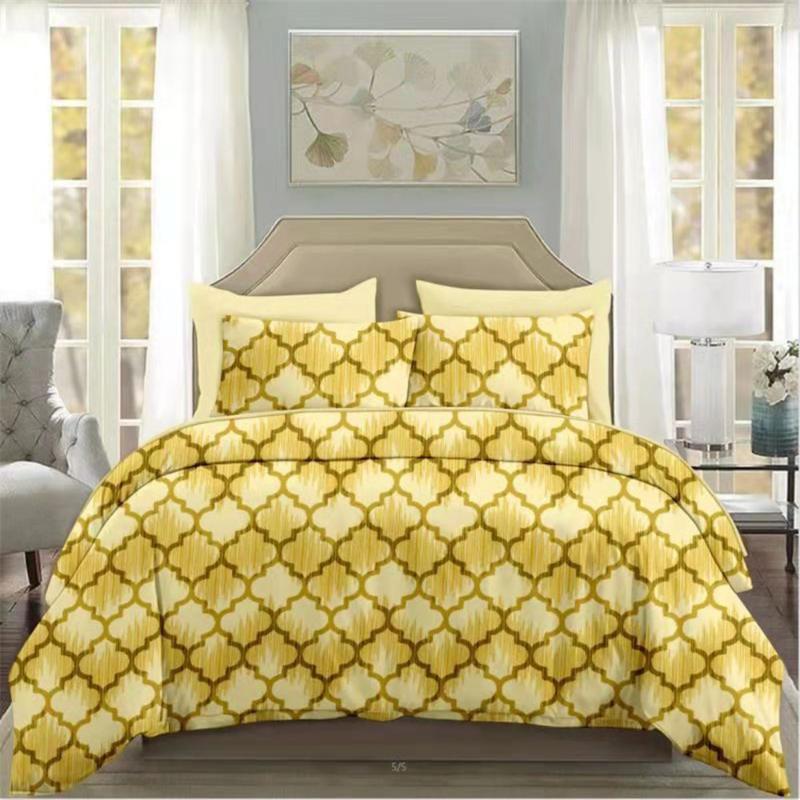 Bedding Sets Geometry Set Elegant 3d Duvet Cover Comforter Bed Linen Twin Queen King Single Size Fashion