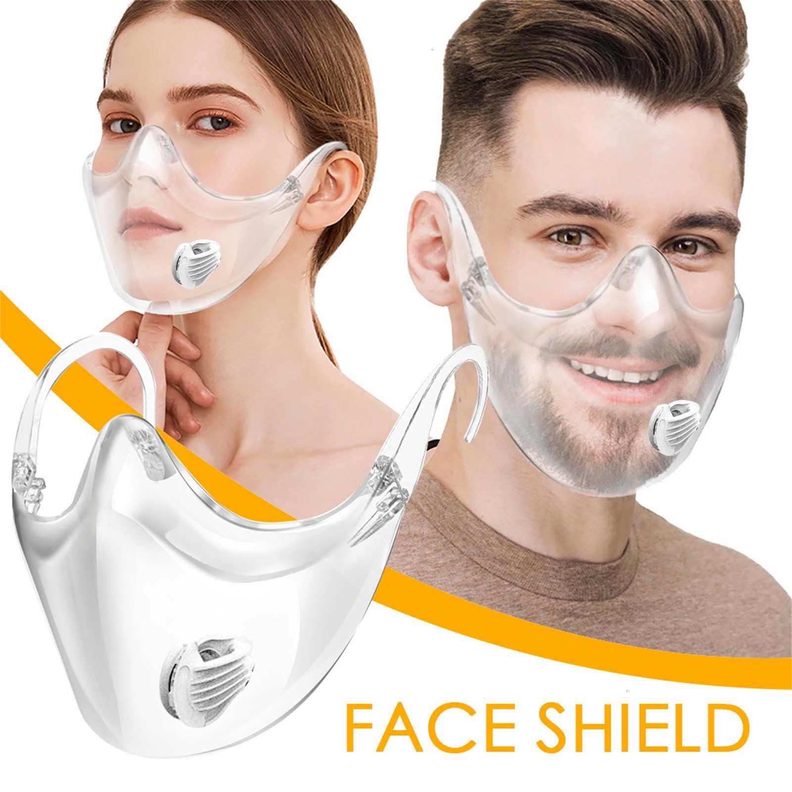 درع دائم تجمع بين البلاستيك 2020 واضح قناع الوجه ضمادة قابلة لإعادة الاستخدام غطاء الفم الأنف خوذة mondkapjw9fj