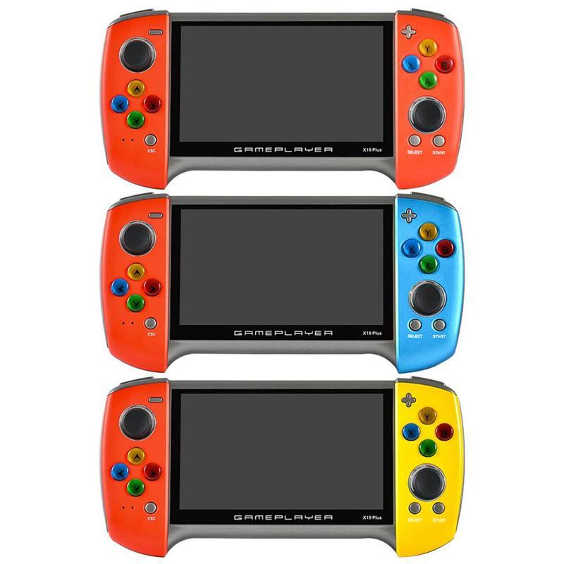 X19 Plus 5.1-inch 8G Nostalgic host Classic Dual-Shake Game Console free 1000 Games Support the GBA GB MD FC simulator children's gift