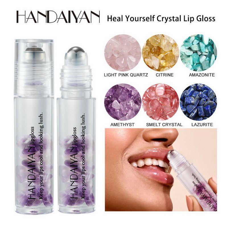 Handaiyan كريستال كرة الشفاه اللمعان مخصب مرطب هيدرالتيل لاصم إضاءة الطبيعية Lipsed Lips Makeup شفافة Lipgloss