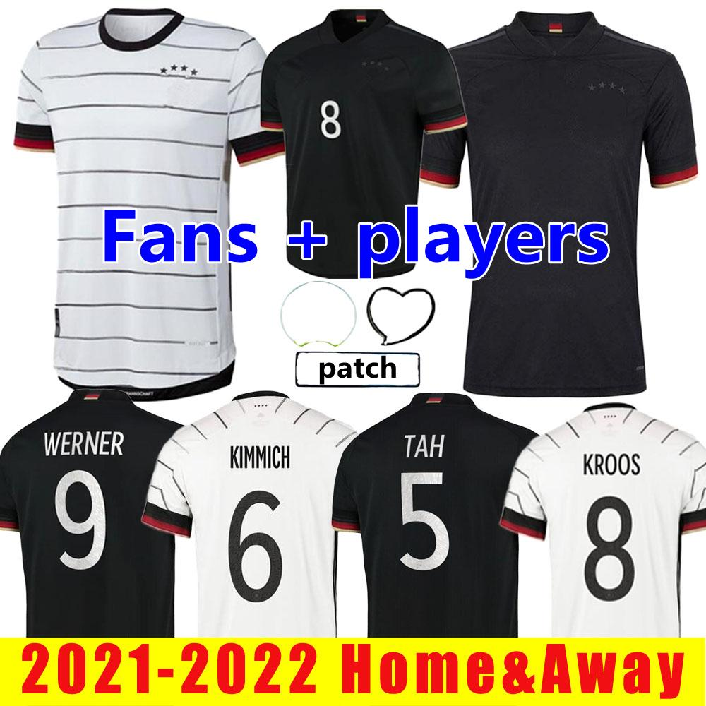 2021 2022 Alemania Versión del jugador Fútbol Jerseys Fans Hummels Kroos Gnabry Werner Draxler Reus Muller Gotze Copa Europea Camisa de fútbol Tamaño S-XXL