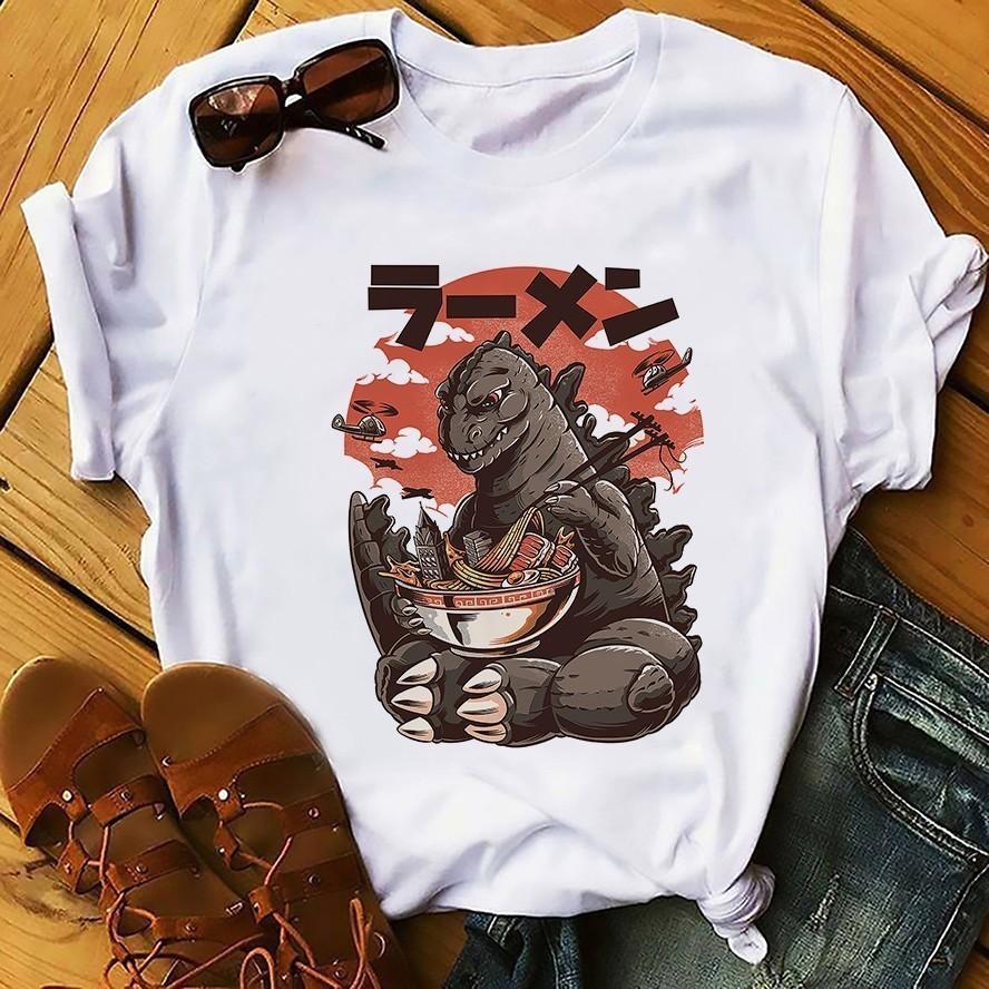 Japón Anime Style Design Design Sushi Kaiju Tshirt Men Summer New White Short Homme Casual Harajuku Funny T Shirt Unisex Streetwea