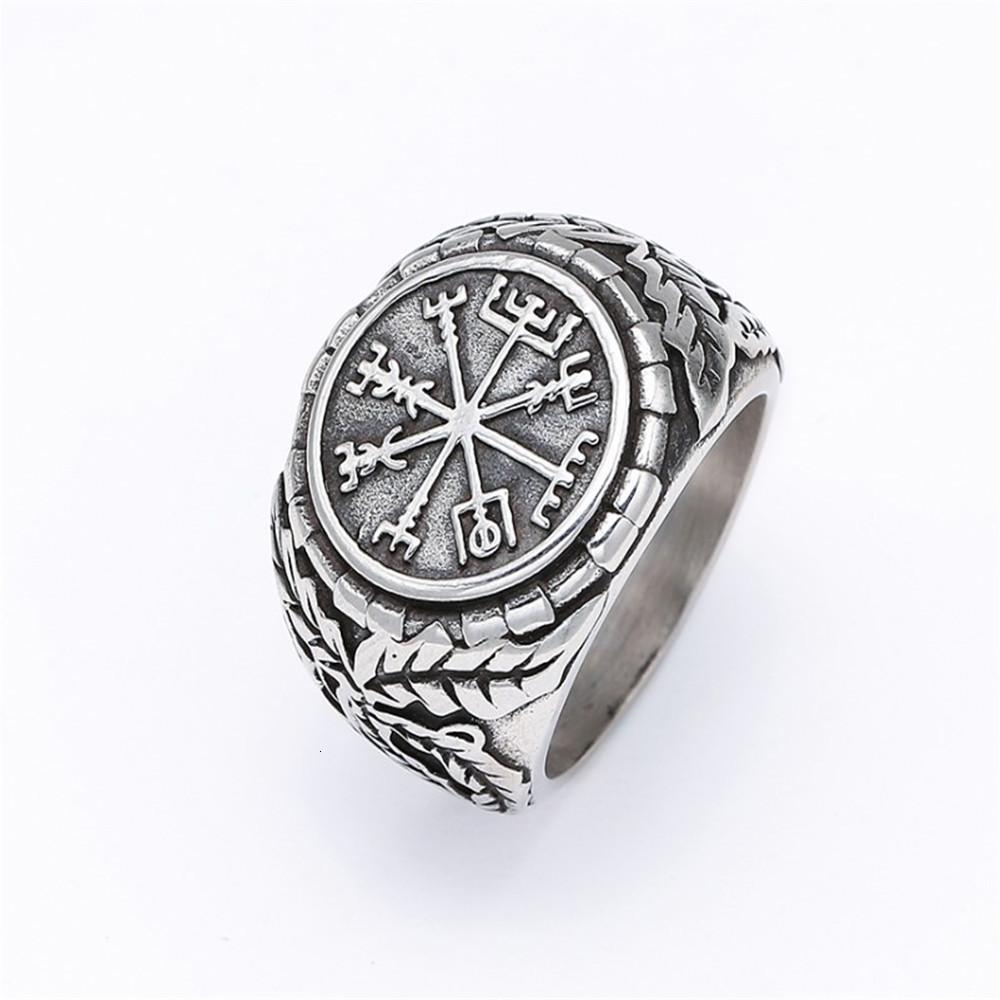 성격 Brocade 반지 묘사 된 남성용 바이킹 오딘 티타늄 강철 펑크