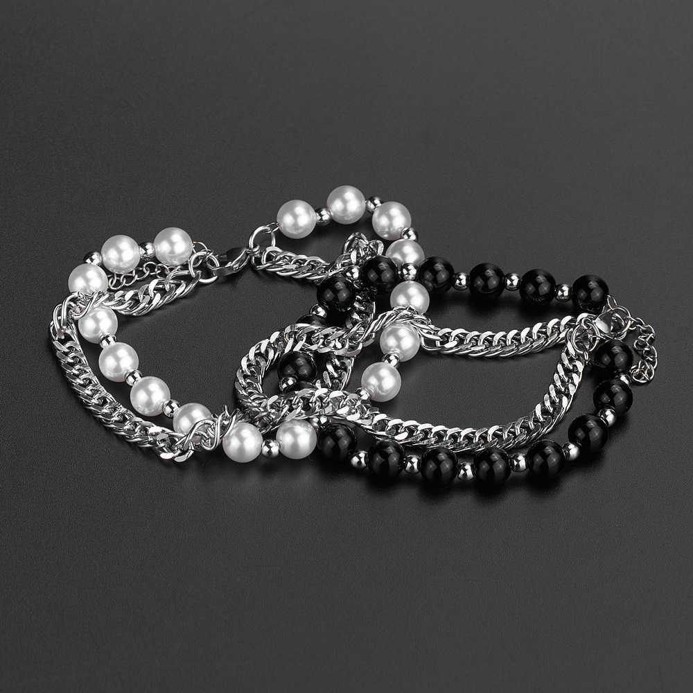 Perle Hip Hop Double Indifférence Réglable Mode Personnalité Hommes et Femmes Bijoux en acier Titanium Bijoux