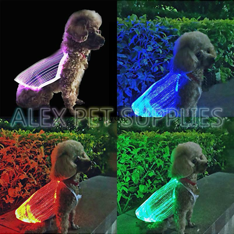 Pet dog apparel LED luminescent pet's vest USB portable charging fashion colorful bright clothes anti-lost Various models Puppy jacket