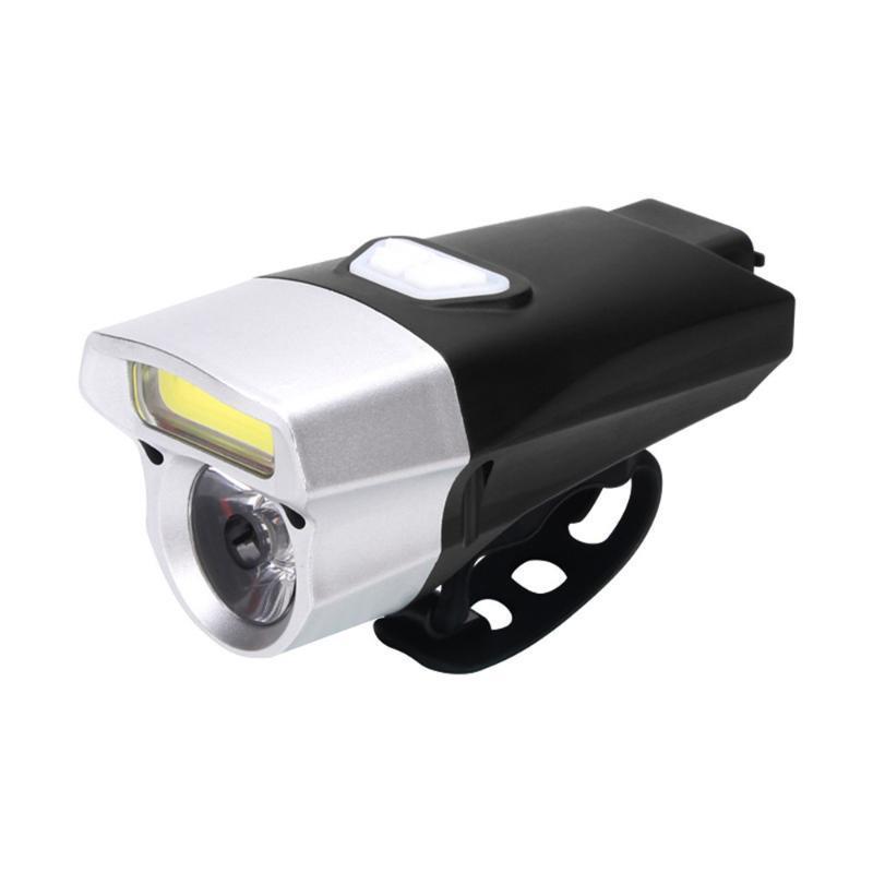 Kongyide Cycling Vélo Light USB Accessoires de vélo rechargeables Double lampe LED COB Lights