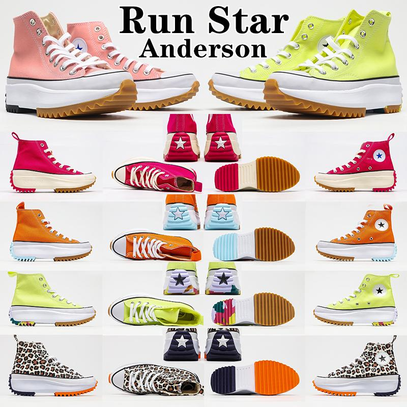Run Star X JW Hommes Halkgged Home Femme Chaussures Casual Chaussures Topard Orange Noir Jaune Jaune Blanc High Top Stars Classic Épais De fond Lady Toile Taille 35-45