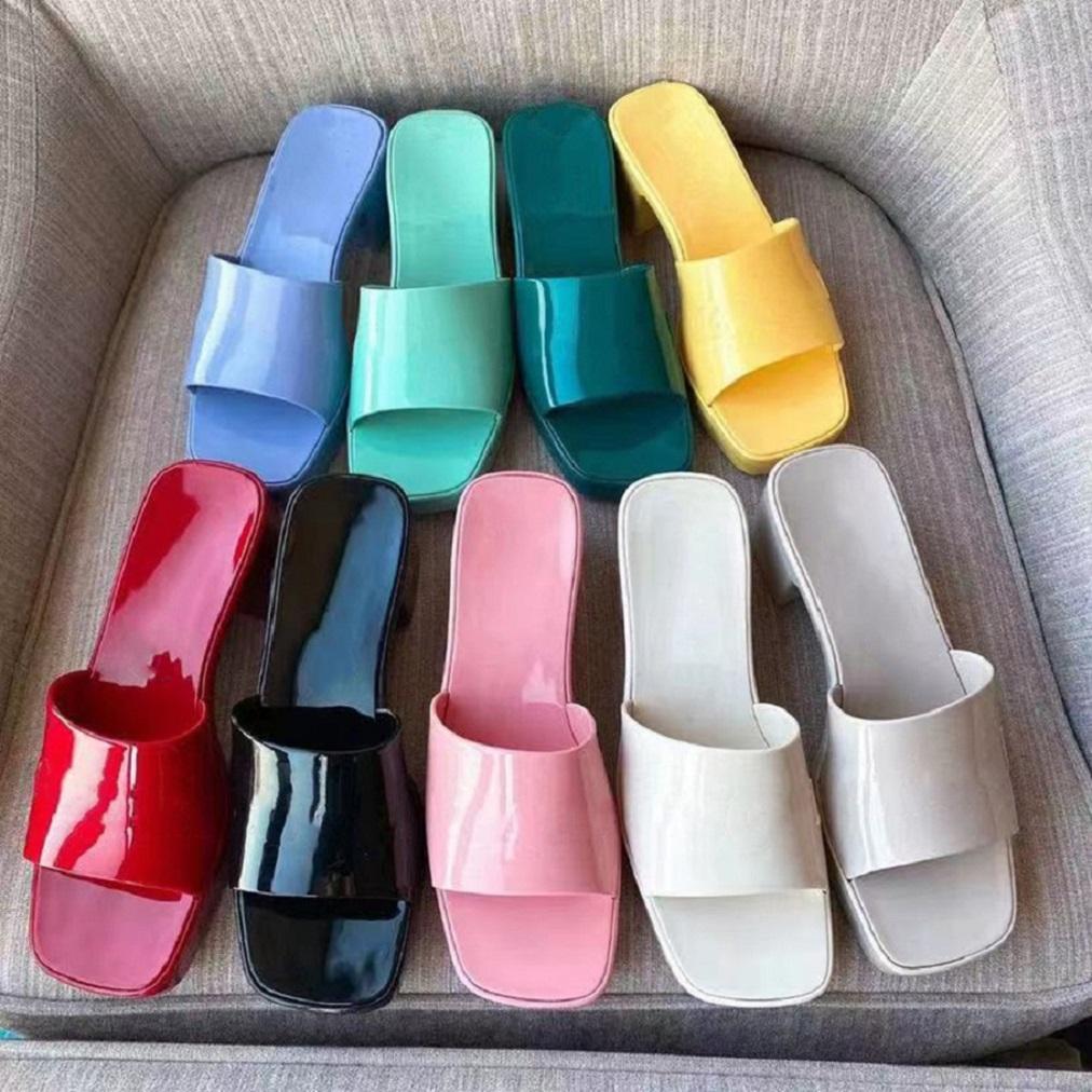 Frau Slipper Mode Dame Sandalen Strand Dicke Bottom Sell Hausschuhe Plattform Alphabet Gummi High Heel Slides Shoe02 02