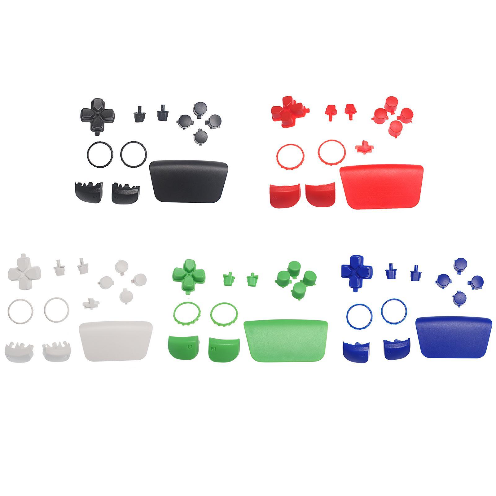 Геймпад кнопки D-Pad TouchPad Share Опции R1 L1 Trigger + Bullet Bullet для PlayStation 5 PS5 Контроллер Полный комплект Комплекта для ремонтных комплектов Быстрое корабль