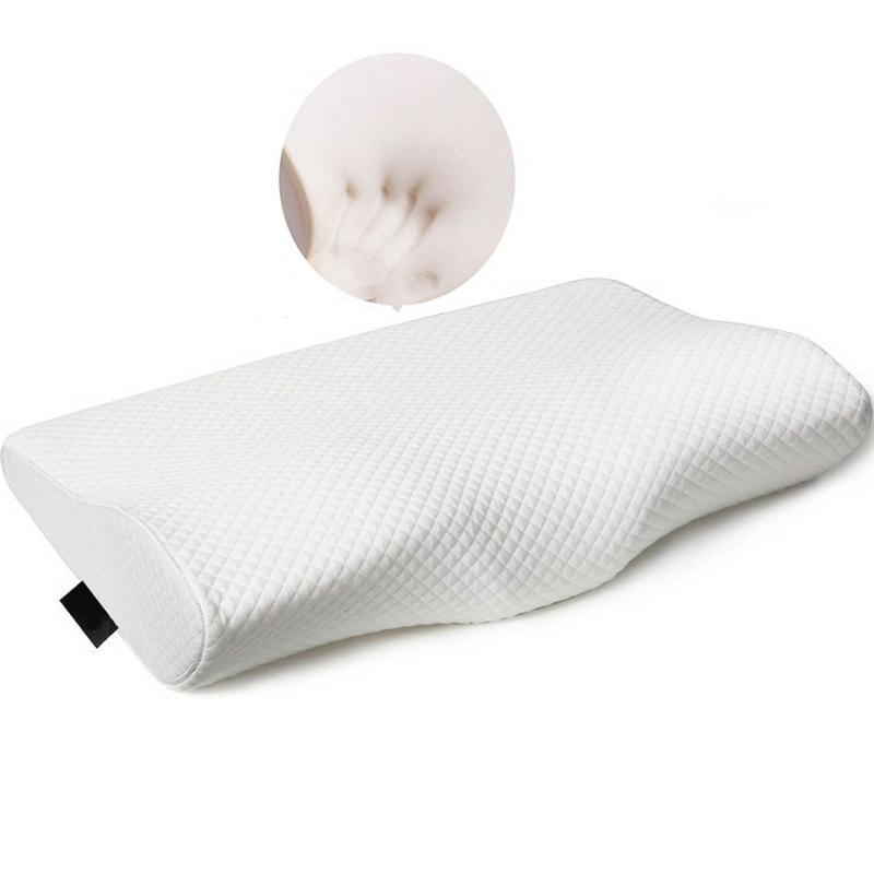 Cuscino Memory Foam Biancheria da letto Lento Rebound Soft Collo Protezione Butterfly Shape Sweep Sleeper Anti Snore Relax Cervicale