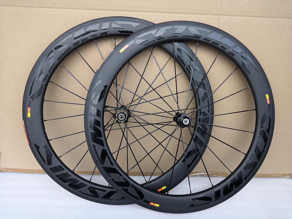 3k Twill Tweave Road Bike Roues de carbone CLINCHER 60MM Profondeur 25mm Largeur Bob BOB Bicycle Wheelset