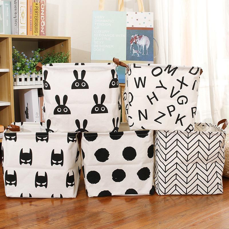 Cube Folding Lagerkorb für Kinder Spielzeug Organizer Wasserdichte Boxen Bins Griffe Home Office Regal Organizador Meer Versand OWB8748