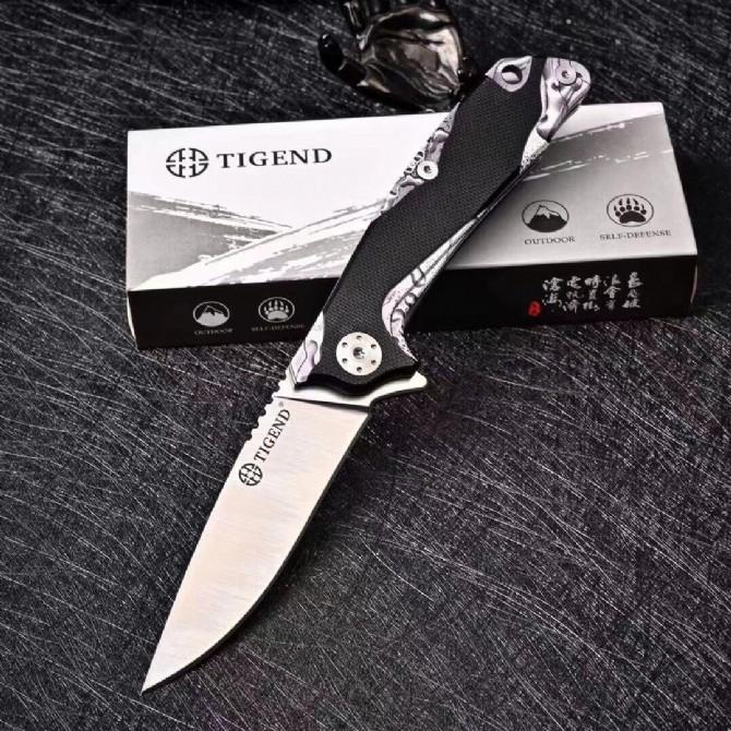 Top Quality Flipper Pocket Folding Knife D2 Satin Drop Point Blade G10 + Stainless Steel Sheet Handle EDC Gift Knives