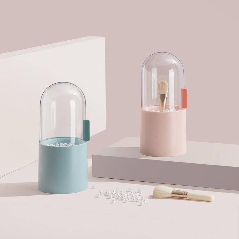 Tipo Maquillaje Cepillo Portero Organizador Cosmético Lápiz Labial Lápiz Almacenamiento Contenedor Caja Transparente Cajas Bins