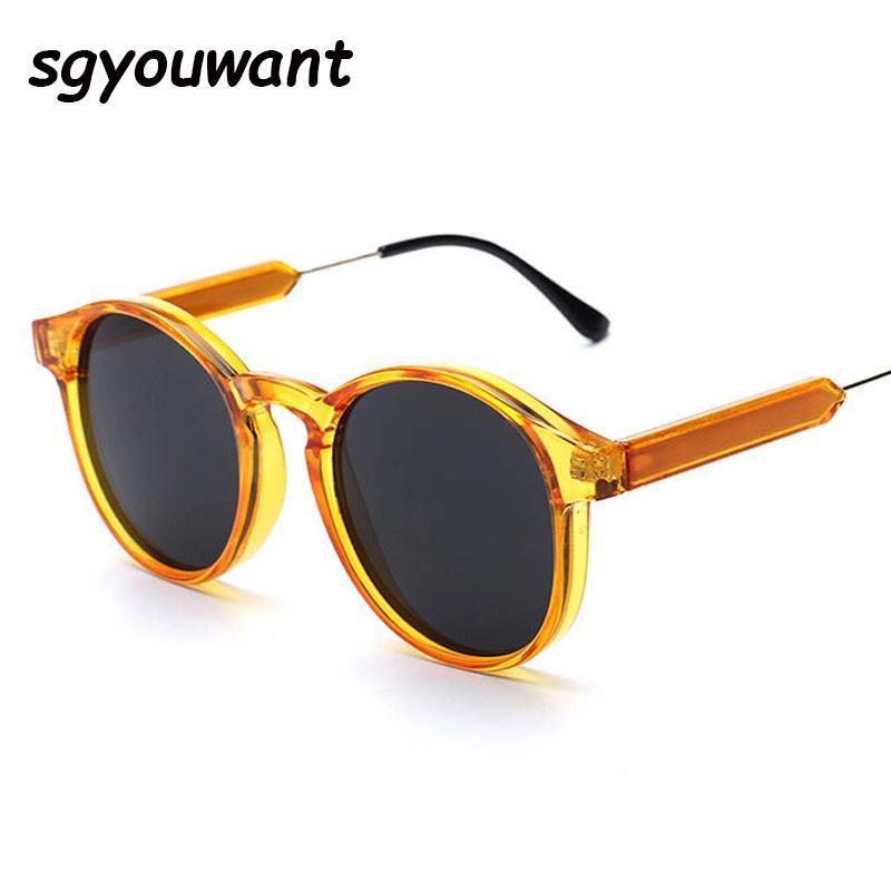 Sunglasses de Sun óculos de sol do vintage de mulheres transparentes gótico 90s óculos de sol redondos 2021 produtos de tendência uv 400 homens tons