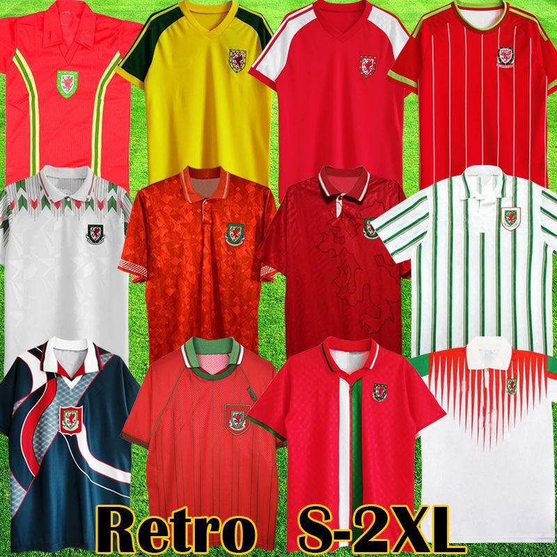 Galler Retro Futbol Formaları 1976 1982 1990 1993 Gales 1992 1994 1995 1996 1998 Giggs Hughes Eve Saunders Rush Boden Hız Vintage Klasik Futbol Gömlek