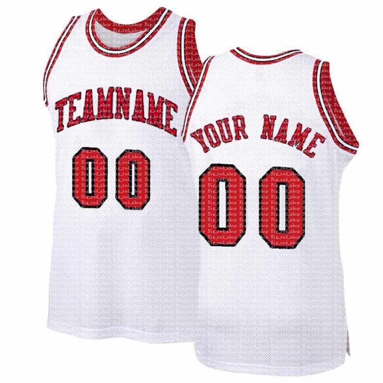 مخصص diy تصميم شيكاغو أي رقم جيرسي 00 شبكة كرة السلة البلوز شخصية خياطة اسم الفريق و numbe أحمر أبيض أسود 2021