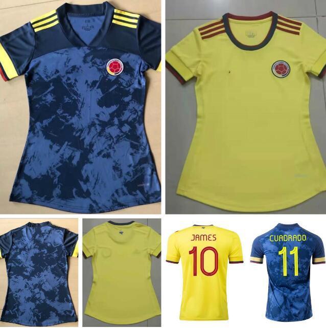 امرأة 21 22 المنتخب الوطني كولومبيا لكرة القدم الفانيلة 2021 منزل بعيدا جيمس L.Muriel Falcao كوادرادو كرة القدم قميص موحدة