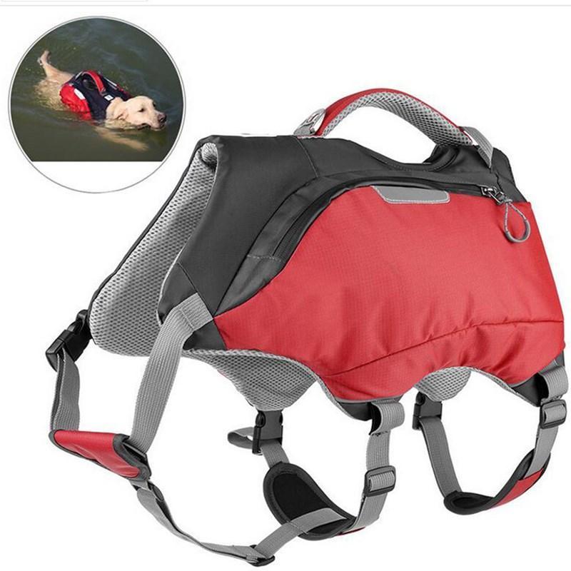 Veste de la vie de chien rapide à porter sécurité haute flottabilité piscine sac à dos mi-grand accessoires vêtements