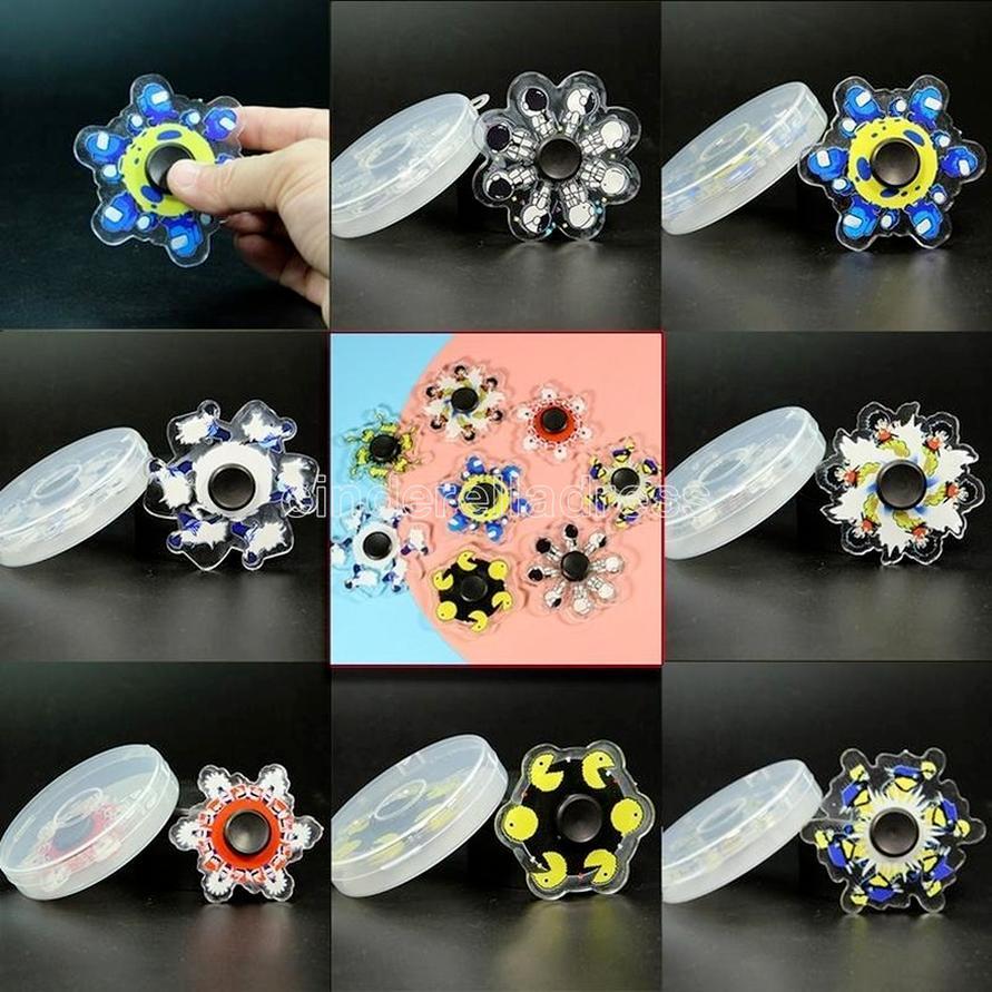 3D Phantom Dekompresyon Fidget Oyuncaklar Parti Favor Parmak Oyuncak Sensörü Parmaklar Spinner Kutusu Paketi Ile Çocuk Hediye 496