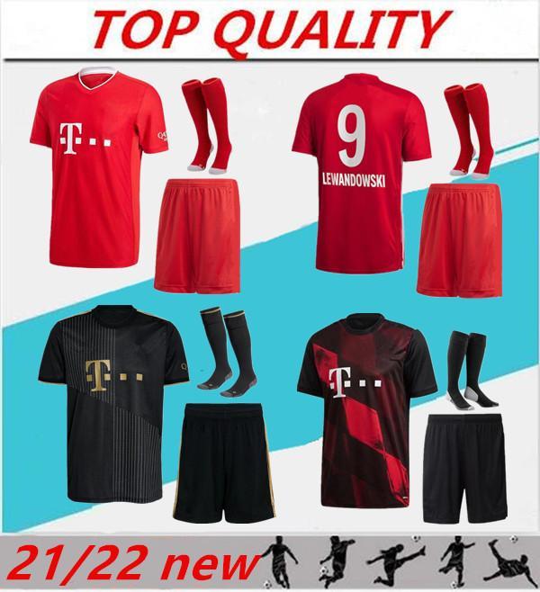 2021 2022 Le Jersey de football Lewandowski Kits pour adultes 21/22 Maillots de Footbal Thiago Thiago Perisic Muller Sane Football Shirt