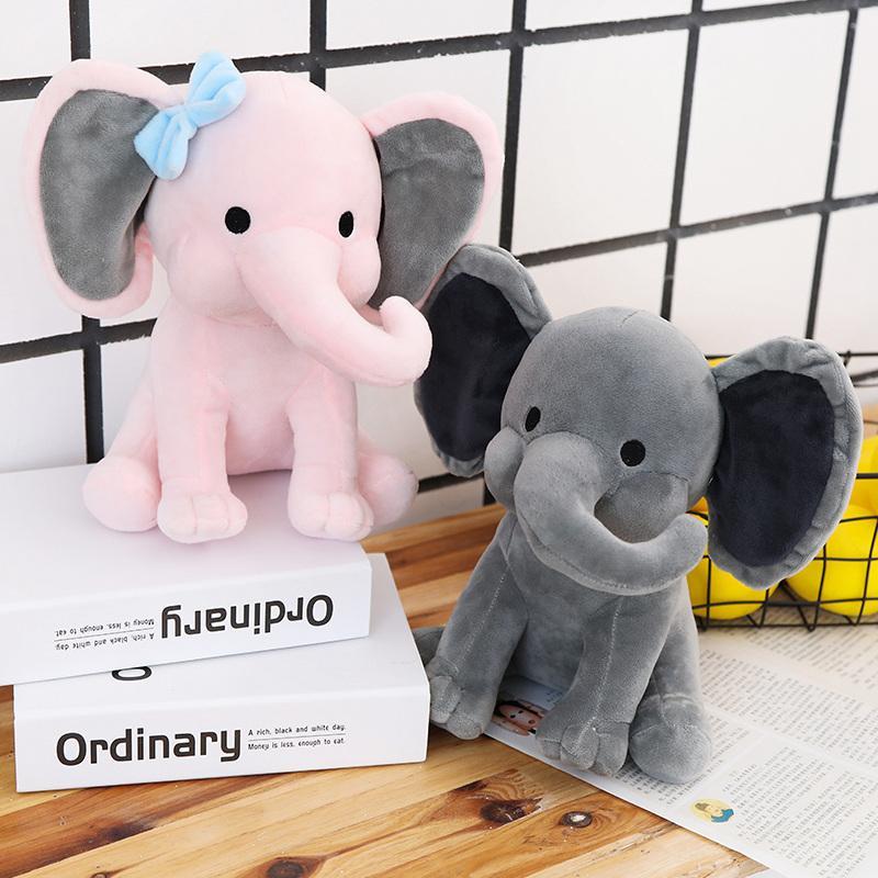 Фаршированные плюшевые животные успокаивают детское слон кукла милые дети спать с плюшевыми игрушками на день рождения подарок девушки