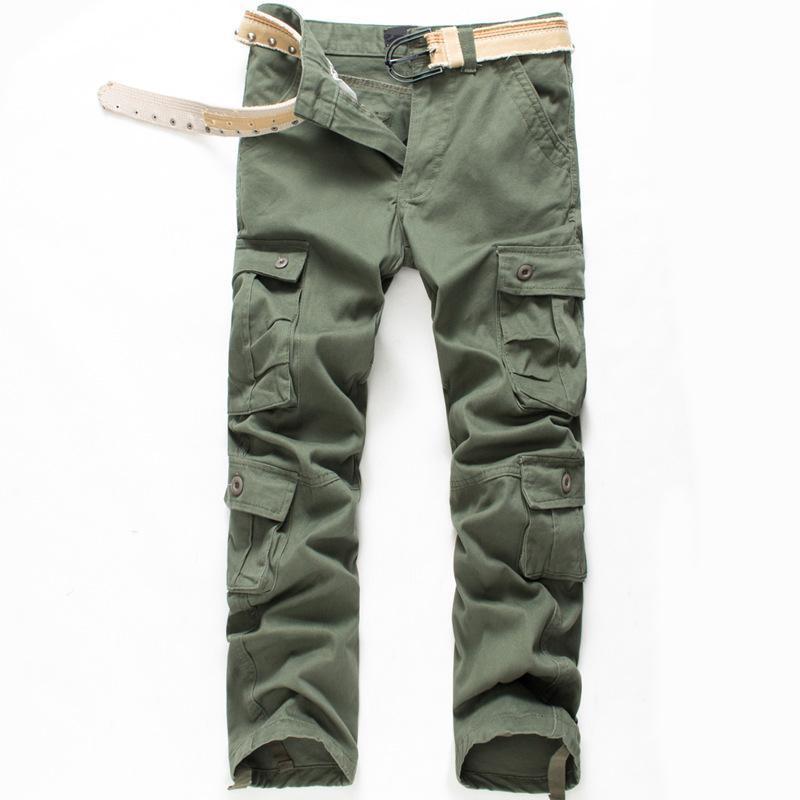 Erkek sonbahar kış pamuk kargo pantolon artı boyutu gevşek askeri taktik pantolon erkekler için büyük boy marka giyim