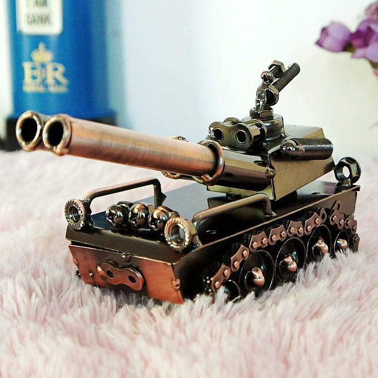 Metal Tank Model, Classic Tinplate Vehicles Toy, Manual,Handcraft Arts,High Precision for Kid' Gifts, Collection, Decoration, Free Shipping