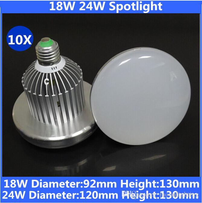 الصمام Soptlight 18W 24W 1600LM / 2000LM الصناعية ، الفطر / مظلة شكل E27 E40 الأضواء مصباح ، أضواء خليج عالية للمستودع ، سوبر ماركت