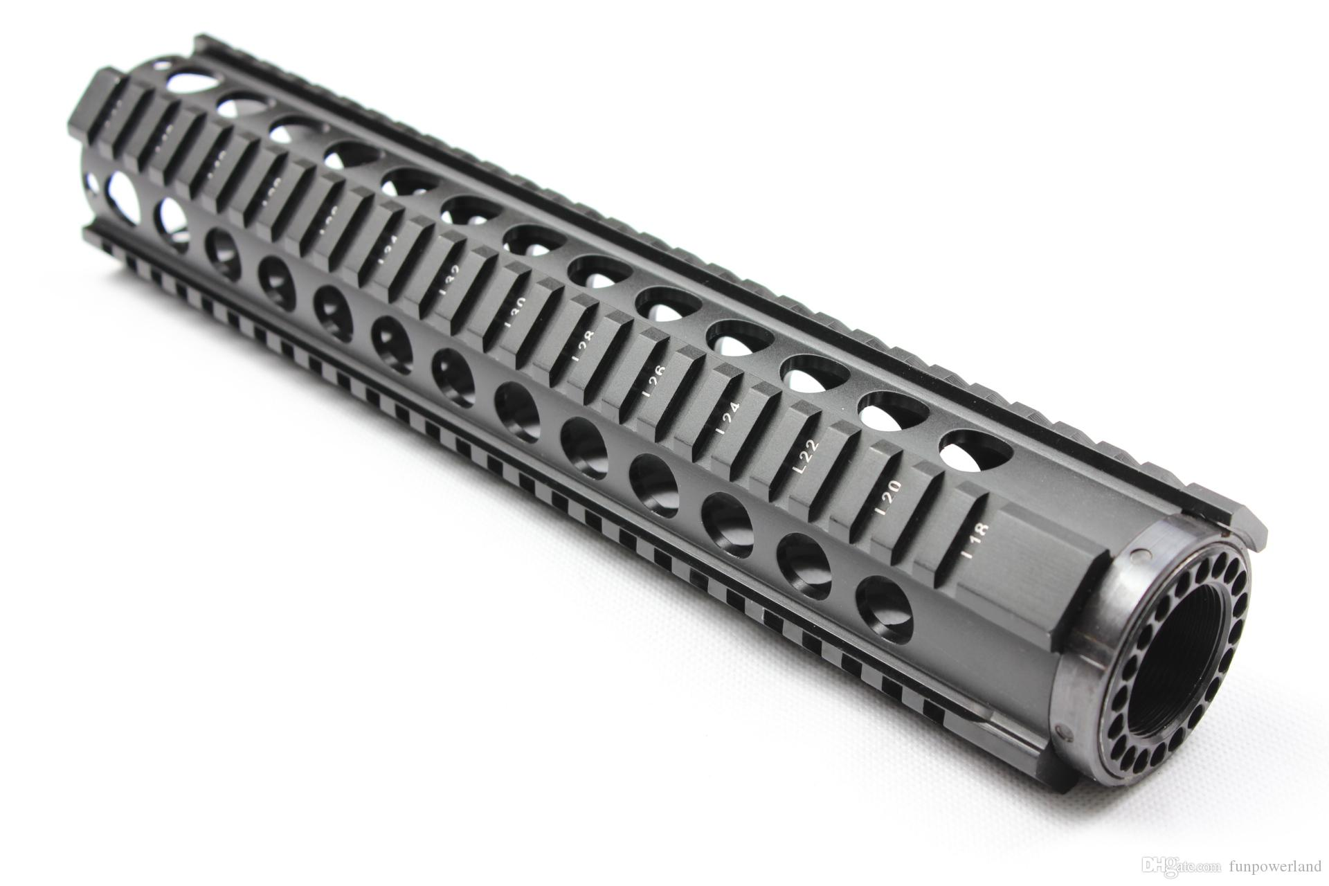 Funpowerland High quality Tactical T-Serie 4/15 Free Float 12 Inch Handguard Quad Rail Scope Mount Free Shipping