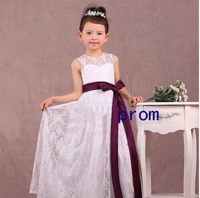 Wholesale - New Girls Dress For Baby Children Flower Girl's Princess Dresses Kids Formal