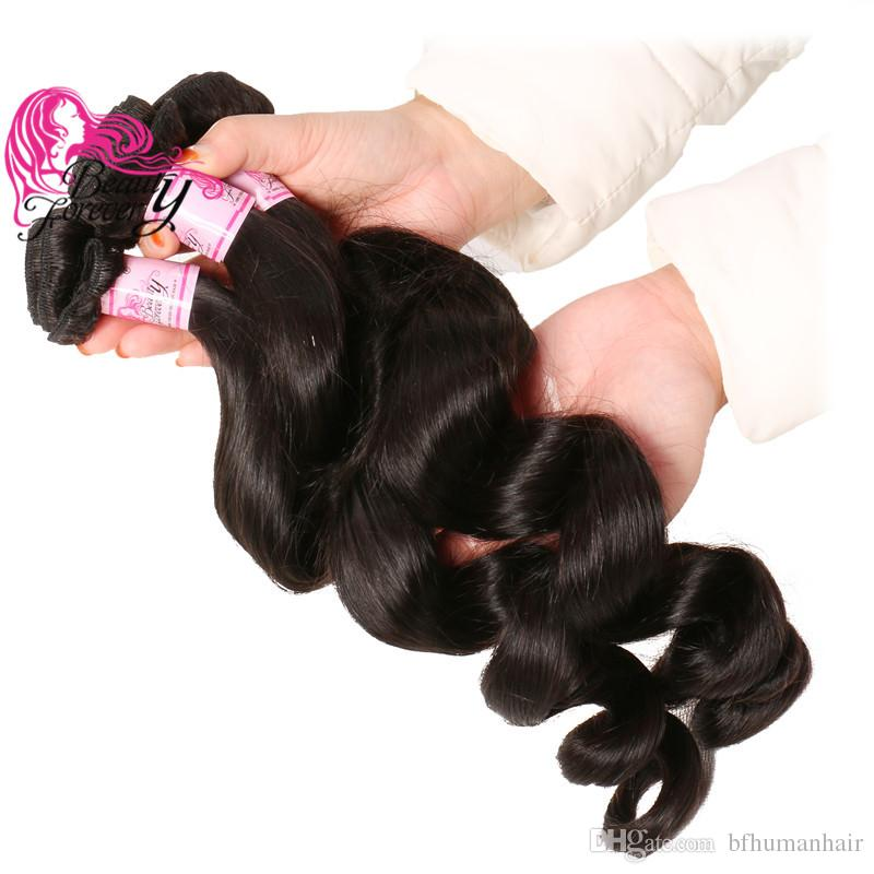 Beauty Forever Indian Remy Hair Loose Wave Bundles 16-26inch Hair Extension 4 Pieces Mix Length Human Hair Natural Color Wholesale Weave