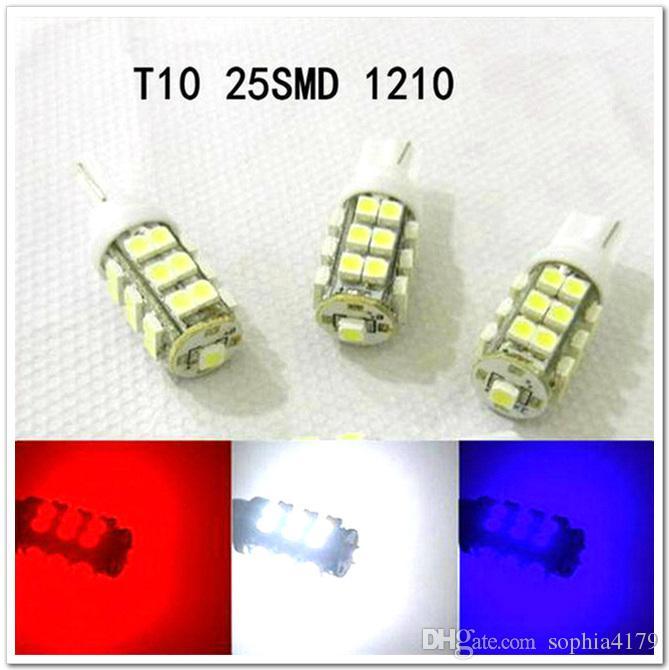 venta al por mayor Car Led Light 50 PCS T10 25SMD 25 LED Wedge Light Auto Bulbs Led Lamp