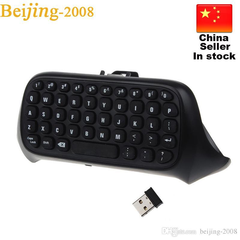 HOT russian laptop Chatpad Nuova tastiera professionale Mini 2.4G Wireless 10M per Microsoft Xbox One Console Controller Black 010211