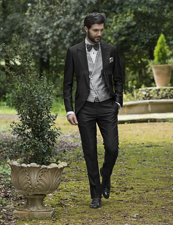 vintage black mens suits peaked Lapel Wedding suits for Men tuxedos ...