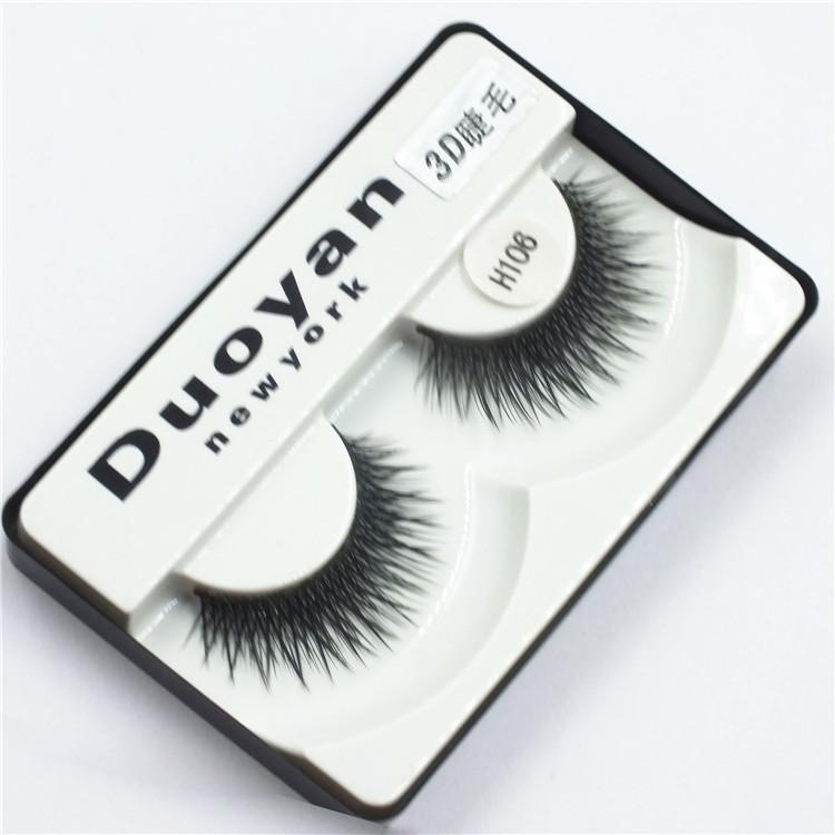 Best 3D False Eyelashes Duoyan New York Handmade Natural Long Thick Eyelashes Fake Eye Lash extensions Black Strip Lashes Beauty Tools H106