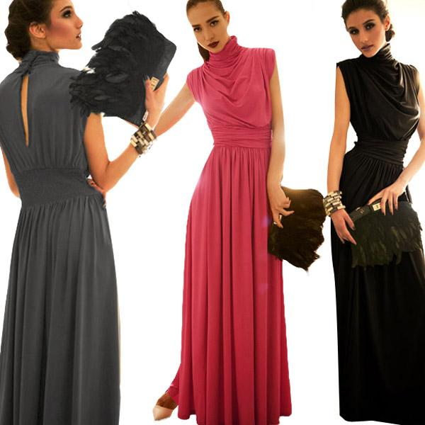 2015 Yeni Moda Kadınlar Vestidos Bohemia Maxi Uzun Kat Uzunluk Elbise Bayan Balo Parti Elbiseler