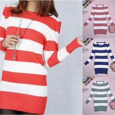 عارضة سترة النساء البلوفرات قمم الشتاء الخريف 8 ألوان مخطط المرقعة المرأة البلوزات أزياء النساء الملابس