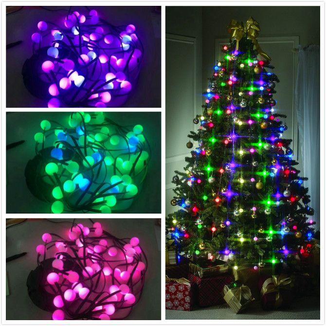 Christmas Tree Lights.Christmas Tree Decorative Lamp Tree String Lights Changing Color Us Uk Eu Au Festive Party Holiday Lighting 2018 Top Christmas Decorations Traditional
